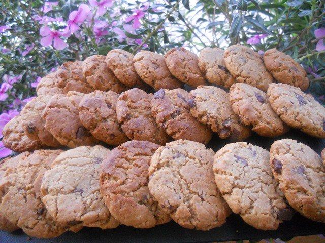 cookie flocon d avoine beurre de cacahu te et p pite de chocolat l 39 horizon lointain la reunion. Black Bedroom Furniture Sets. Home Design Ideas