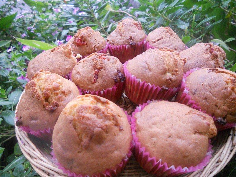 Muffins fraises séchées et chocolat blanc dans goûters, biscuits (59) DSCN9216-Copier