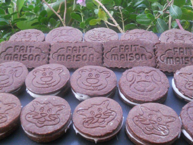 Biscuits au chocolat fourrées à la vanille dans goûters, biscuits (59) DSCN9381-Copier