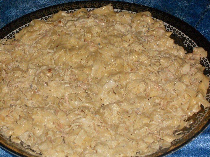 Tagliatelles fraîche maison sauce gorgonzola et jambon fumé dans riz,pâtes, légumes (19) DSCN0705-Copier